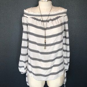 Nordstrom's beach lunch lounge off shoulder strips